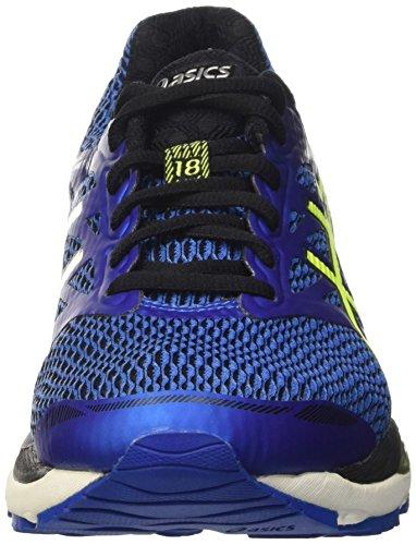 Asics Gel-cumulus 18 - Entrenamiento y correr Hombre Blu (Imperial/Safety Yellow/Black)