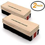 Emraw Felt Chalkboard Eraser Cleaner Kit for Dry Erase Board Blackboard Chalk Eraser Whiteboard Peel Eraser Black Board Eraser Duster Office School Shell Blackboard Cleaner Set of 2