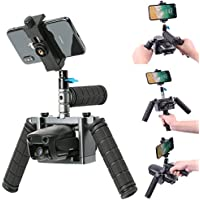 Kuxiu Mavic Air Handheld Gimbal Stabilizer, Aluminum Alloy Cinema Tray Bracket Kit with Phone Holder Mount for Dji Mavic Air 2018 Version