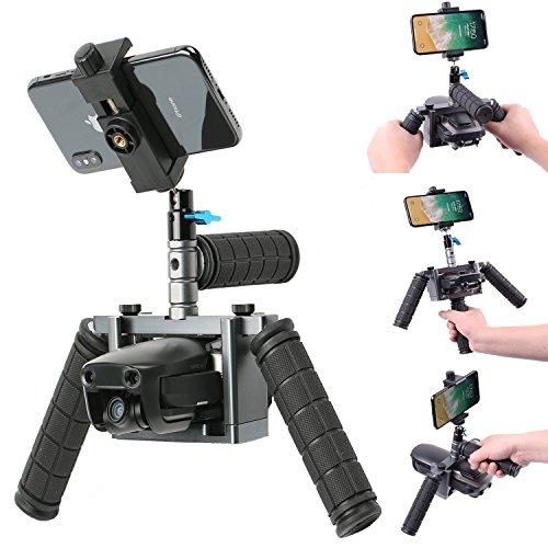 Kuxiu Mavic Air Handheld Gimbal Stabilizer, Aluminum Alloy Cinema Tray Bracket Kit with Phone Holder Mount for Dji Mavic Air 2018 Version by KU XIU