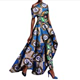 Tootless Women 2pcs Set Africa Long Pants Dashiki Fit Shoulder Off Long Dress 2 3XL