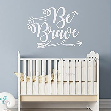 BATTOO Be Brave Wall Decal- Arrow Wall Decal- Inspirational Wall Decals Nursery- Wall  sc 1 st  Amazon.com & Amazon.com: BATTOO Be Brave Wall Decal- Arrow Wall Decal ...