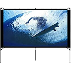 Outdoor Projector Screen - Foldable Portable Outdoor Front Movie Screen, Setup Stand, Transportable Full Set Bag for Camping and Recreational Events,80 Inch by Vamvo