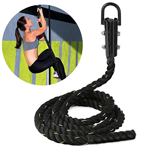 Pellor Sport Fitness Exercise Gym Training Climbing Rope for Indoors and Outdoors (Black, 10ft)