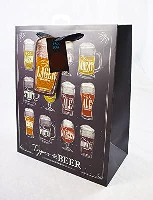 Tipos de cerveza tamaño mediano bolsa de regalo para hombres ...