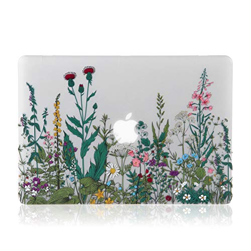 iDonzon MacBook Pro 13 inch Case 2018 2017 2016 Release A1989/A1706/A1708, 3D Effect Matte See Through Hard Case Cover Compatible Newest Pro 13.3 with/without Touch Bar and Touch ID - Garden Flowers