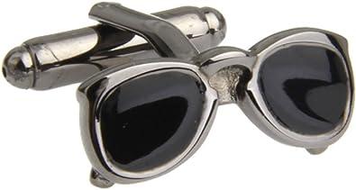 MRCUFF Eyeglass Glasses Pair of Cufflinks /& Tie Bar Clip with Presentation Gift Box /& Polishing Cloth