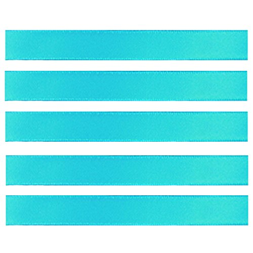 Ieasycan Double Face Metallic Finish Satin Ribbon Solid Color Wedding Premium Fabric Ribbon, 1/3-Inch By 100-Yard, Vary Blue Cyan (Optional Metallic Finishes)