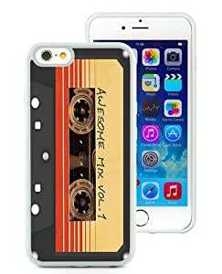 Case For iPhone 6,Awesome Mix 1 Retro White iPhone 6 (4.7) TPU Case Cover