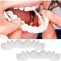 2 Pares/Set (dentadura Superior e Inferior) Dentadura Superior