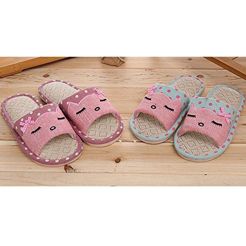 proof Unisex Flax Slipper Home Skid Couples Summer Pink Cartoon House Aksautoparts xBUyXYqwdw