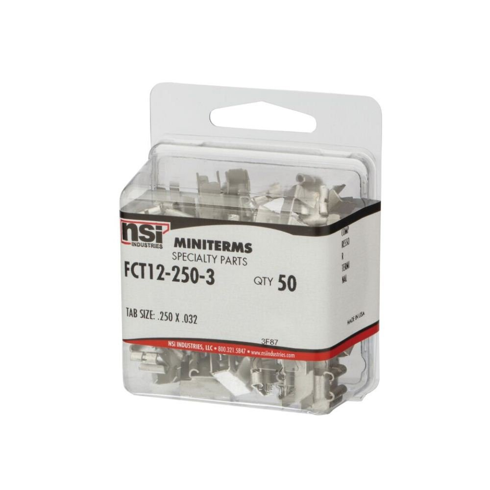 Pack of 50 NSi Industries FCT12-250-3 Male//Female Adapter 0.250 x 0.032 Tab Size Pack of 50 0.250 x 0.032 Tab Size Specialty Connector