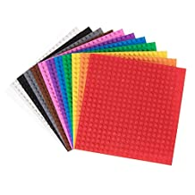 """Classic Baseplates 6"""" x 6"""" Building Brick Baseplates by Strictly Briks 
