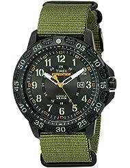 Timex Mens TW4B03600 Expedition Gallatin Green/Black Nylon Slip-Thru Strap Watch