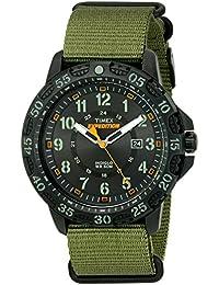 Men's TW4B03600 Expedition Gallatin Green/Black Nylon Slip-Thru Strap Watch