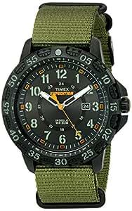 Timex Men's TW4B03600 Expedition Gallatin Green/Black Nylon Slip-Thru Strap Watch