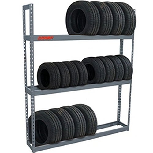 Champ Adjustable 60in Tire Storage Rack - 3 Shelf 84x60x12in 1000 Capacity by