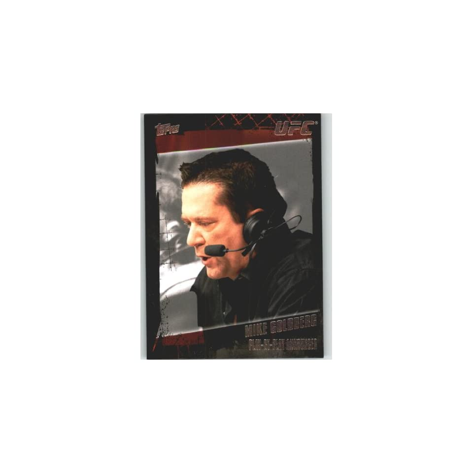 2010 Topps UFC Trading Card # 168 Mike Goldberg (Ultimate Fighting