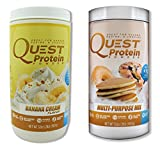 Quest Nutrition Quest Protein YcFlaN Powder, Banana Cream/Multi Purpose 2lb Tub (1 of Each)