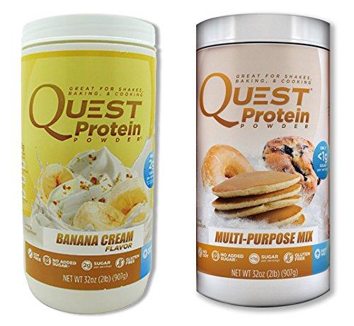 Quest Nutrition Quest Protein YcFlaN Powder, Banana Cream/Multi Purpose 2lb Tub (1 of Each) by Quest Nutrition