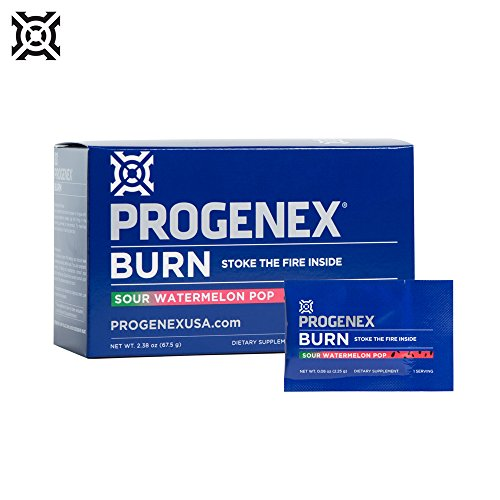 PROGENEX® Burn | Fat Burner & Metabolism Booster | Stimulant-Free Energy for Enhanced Endurance | Sports Performance Supplement for Men and Women | 30 Individual Serving Packets (Sour Watermelon Pop)