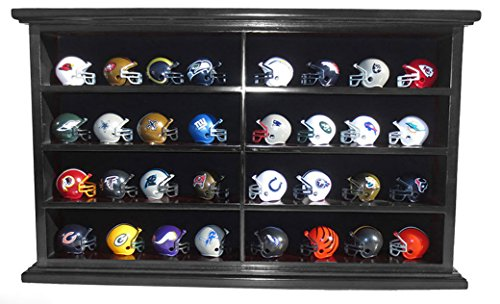Pocket Pro Gumball Football Mini Helmet Display Case Stand Wall Cabinet
