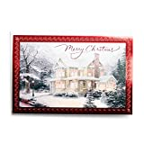 Best Sharing Cards With Glitters - Christmas Boxed Cards - Thomas Kinkade - Snowy Review