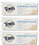 Tom's of Maine Luminous White Natural Toothpaste Clean Mint With Fluoride 0.75 Oz Travel Size (Pack of 3 )