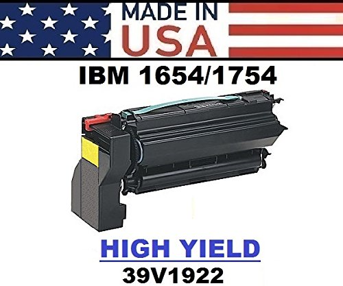 ALL CITY USA REMANUFACTURED Toner Cartridge Replacement for IBM 1654/1664/1754/CX1200 (Yellow) HIGH Yield