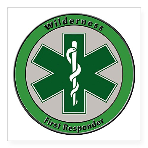 Wilderness First Responder (CafePress - Wilderness First Responder Sticker - Square Bumper Sticker Car Decal, 3