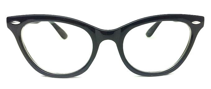 Amazon.com: Cat Eye Wayfarer Style Gradient Two Tone Plastic Frame ...