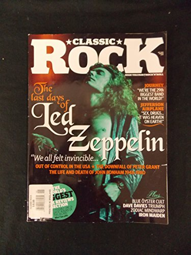 Classic Rock Magazine The Last Days of Led Zeppelin Sept 2005, Issue 84, Printed in England