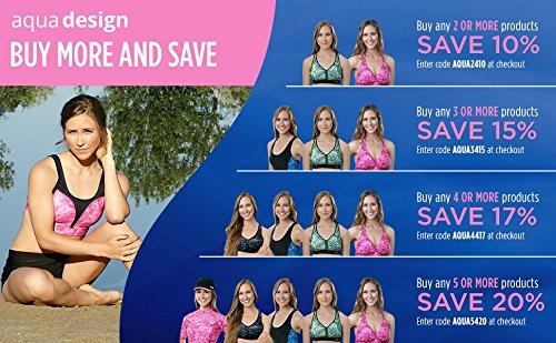 Aqua Design Women UPF 50+ Short Sleeve Comfort Fit Rash Guard Swim Surf Shirt by Aqua Design (Image #4)