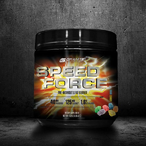 Granite Supplements Speed Force Pre-Workout & Fat Burner 30 Servings (Sour - Is Most Candy The What Sour