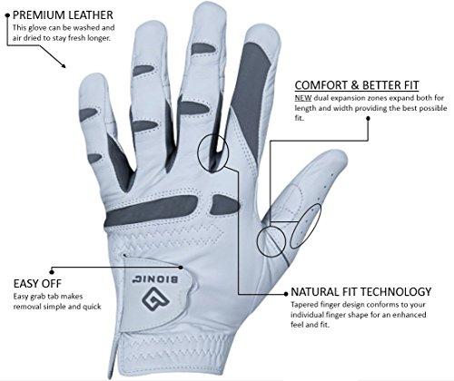 Bionic Gloves – Men's PerformanceGrip Pro Premium Golf Glove made from Long Lasting, Genuine Cabretta Leather Photo #7