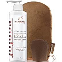 ArtNaturals Sunless Self-Tanner Lotion Set - (8oz - 236ml) - Tanning Lotion with Mitt Creates a Buildable Bronze and Golden Tan with Each Application - Instant Tint for All Skin Types, Light, Fair, Medium and Sensitive