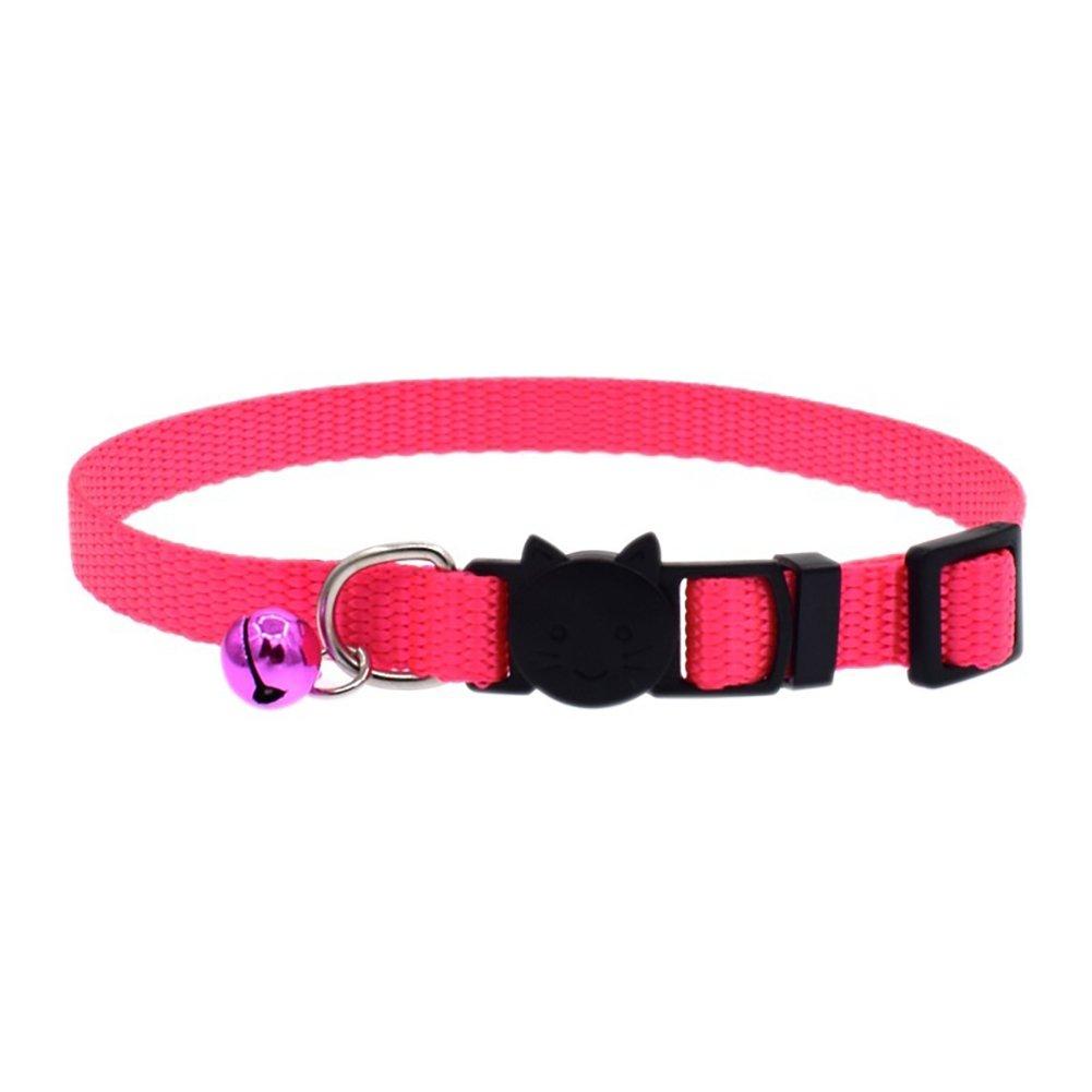 iodvfs Fashion Cat Cachorro Collar Ajustable de Nailon Collar para Perros con Campana Pet Supply