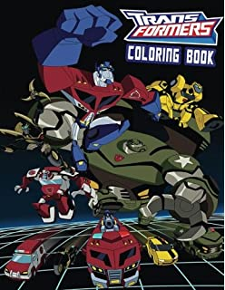 transformers coloring book for kids and adults 40 illustrations