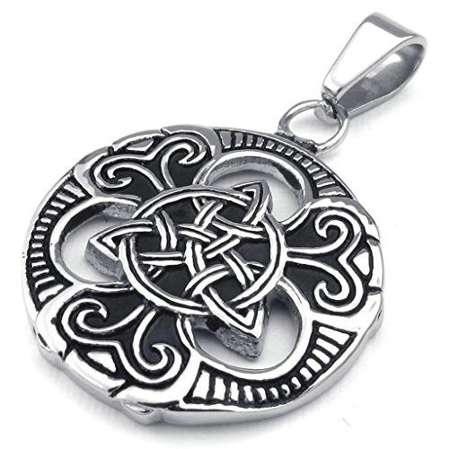 - Daesar Stainless Steel Necklaces Mens Women Pendant Necklaces Ireland Celtic Knot 24Inch