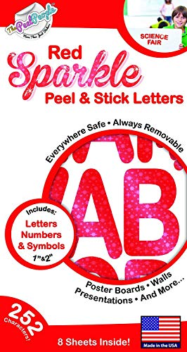 Letters Stickers Red - 252 PC Peel and Stick Letters & Numbers, 1