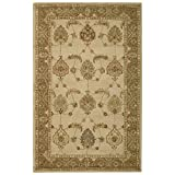 home depot rugs Nourison India House (IH87) Ivory/Gold Rectangle Area Rug, 5-Feet by 8-Feet  (5' x 8')