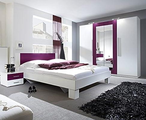Dreams4Home Schlafzimmer Set \'Fiete\' - Kleiderschrank, Schrank, 2 ...