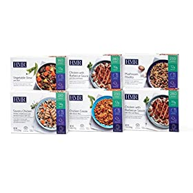 HMR Staff Picks Entree Pack: 1 ea. Chicken Creole, Savory Chicken, Mushroom Risotto, Vegetable Stew w/Beef, 2 Chicken w/Barbecue Sauce, 7.2-8 oz servings, 6 Count