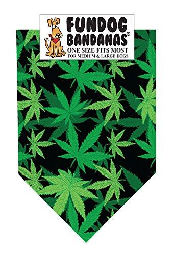 Bandana Leaves Dog - Marijuana Leaf Dog Bandana (One Size Fits Most for Medium to Large Dogs)