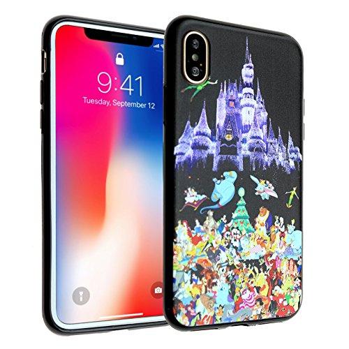 Disney Castle iPhone X Case, iPhone 10 Case, IMAGITOUCH Anti-Scratch Shock Proof Slim Fit Flexible TPU Case Bumper Cover for iphone X / iPhone 10 Disney Character Castle Bumper