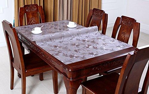 Suave Cristal PVC mantel impermeable Funda para mesa - par de ...