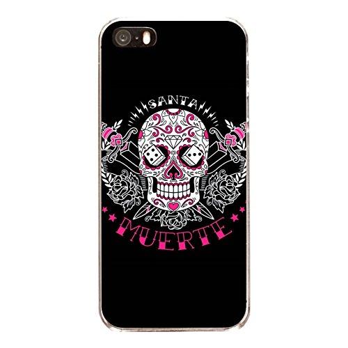 """Disagu Design Case Coque pour Apple iPhone SE Housse etui coque pochette """"Tag des toten Zuckerschädels schwarz"""""""