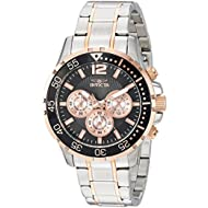 Men's 'Specialty' Quartz Stainless Steel Casual Watch, Color:Two Tone (Model: 23667)
