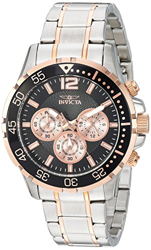Men's Specialty Quartz Watch with Stainless-Steel Strap, Two Tone, 22 (Model - Invicta 23667