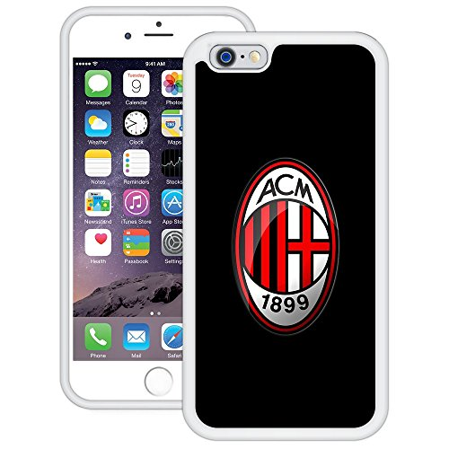 AC Milan | Handgefertigt | iPhone 6 6s (4,7') | Weiß TPU Hülle